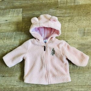Other - Fluffy baby hooded jacket